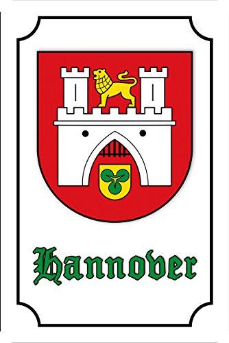 Schatzmix Stadtwappen Hannover blechschild, Nostalgie, historiches Stadt