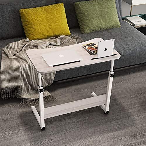 SMCZH Computer Schreibtisch Bett Schreibtisch einfache Moderne Klapptisch einfache Studie Tisch faul Nachttisch Tisch mit Tablet Slot Mobile Computer Stand Desk Portable (Color : White) - White Mobile Maus