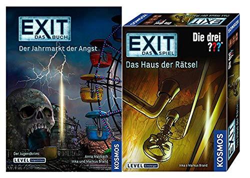 EXIT Kosmos Spiele 694043 Spiel - Das Haus der Rätsel Buch - Der Jahrmarkt der Angst Taschenbuch