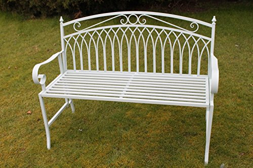 olive-grove-versailles-folding-metal-garden-bench-in-sage-green-finish