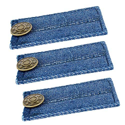 P Prettyia 3er Pack Herren Damen Hosenerweiterung Schwangerschaft Bunderweiterung Hosenbund Verlängerung Einstellbare Elastische Extender für Hosen Jeans Rock