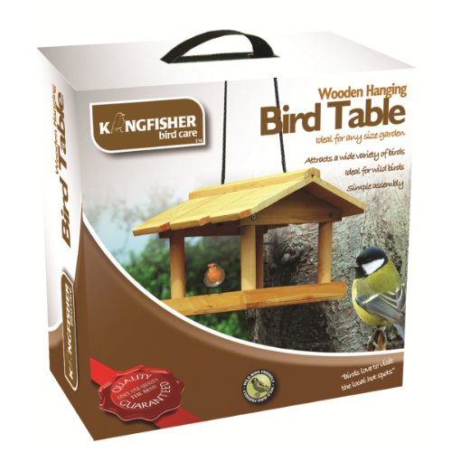 Kingfisher Bird - Bird Table Bois Suspendus