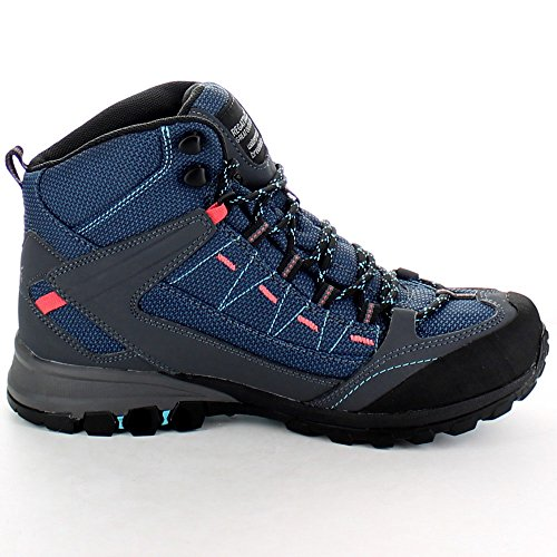 Regatta Ladies Ultra-Max Mid Waterproof Breathable Walking Boots Blue Moroccan Blue/Coral
