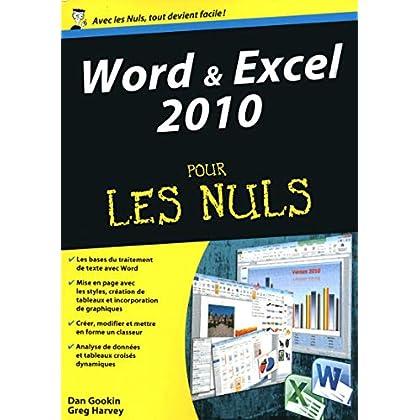 Word et Excel 2010 Megapoche Pour les Nuls