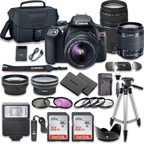Canon Eos Rebel T6 DSLR Camera Bundle with EF-S 18-55...