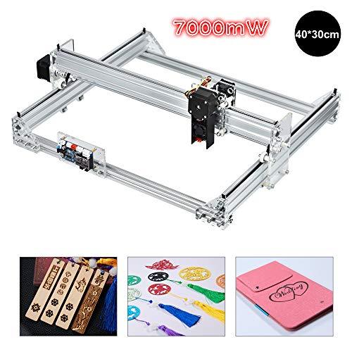 TOPQSC Laserengraver Maschine Kits DIY Desktop Drucker Logo Bild Kennzeichnung Drucker, Gravurfläche 40x30cm, CNC Laserschneid Graviermaschine, 2 Achsen Desktop Drucker für Leder, Kunststoff, Holz