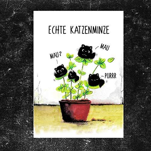 "TinyTami★Katzen Postkarte★Kater MOO\""Katzenminze\"" ★ Grußkarte★Liebe★Katze★ 100{d2b7fb0028789a13e3eeabf04d3e545fe4292c30997be7a50db9fcad1b07b8fe} Handmade"