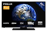 Televisore 40 Pollices Full HD 102 cm | Smart TV con Wifi. HDMI, USB, Telecomando, Mediaplayer, Classe di Efficienza Energetica A+