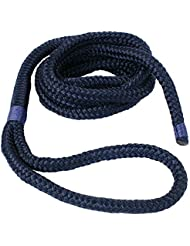 Yachtglanz R.G. - Correa de anclaje / para fender - O8 / 10/12 mm con el ojo, 2 m o 3 m de longitud, de color azul oscuro (ø 10 mm, 2 m largo)
