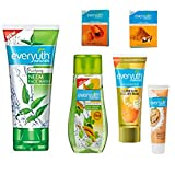 EVERYUTH NATURALS NEEM FACE WASH 150 GM + EVERYUTH NATURALS ANTI ACNE ANTIMARKS TULSI TURMERIC FACE WASH 100 GM + EVERYUTH NATURALS EXFOLIATING WALNUT SCRUB 50 GM + EVERYUTH NATURALS HALDI CHANDAN FACE PACK 25 GM + EVERYUTH NATURALS PAPAYA FACE PACK 25 GM + EVERYUTH NATURALS GOLDEN GLOW PEEL-OFF MASK 90 GM