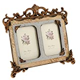 Global Mantra Vintage Style Resin Double Photo Frame Picture Frame Home Decor 3.5