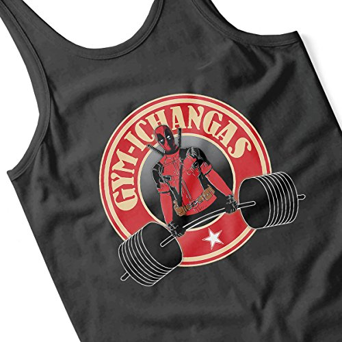 Gymichangas Deadpool Chimichanga Gym Men's Vest Black