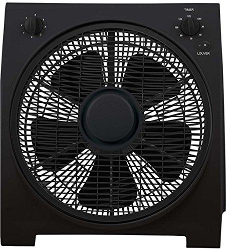 Ardes AR5B30 Ventilatore Box Floor 30, 3 Velocità Rotazione Griglia 360° con Timer, Nero, Pala 30 cm