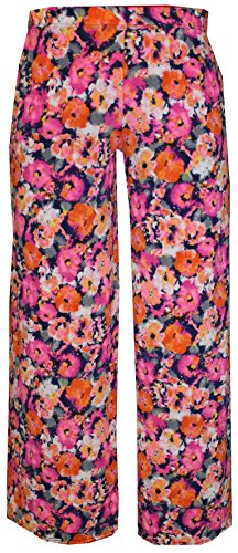 Women's Floral Pattern Palazzo Trousers. Sizes 8 to 26
