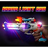 West Feen Laser Sound Music Flashing Lights Gun Toy For Kids