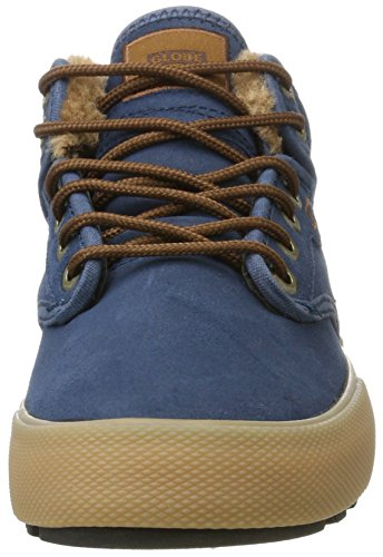 Globe Motley Mid, Chaussures de Skateboard Homme Multicolore (Navy/Gum/Fur)