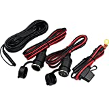 KUNCAN SAE TO SAE Extension Cable 7.5A Fuse Alligator Clip...