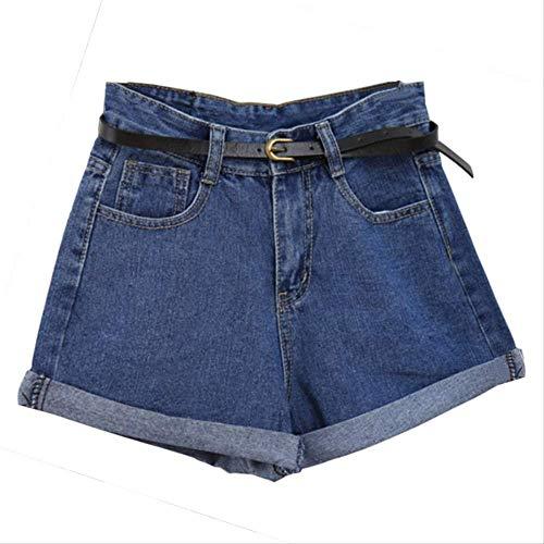 Mädchen Stretch Cuffed Shorts (Mode-Stil Frauen Denim Shorts Vintage High Waist Cuffed Jeans Shorts Street Wear Sexy Shorts Für Sommer Frühling Herbst l W)