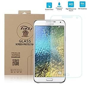 tinxi® Film de protection d'écran en verre trempé pour écran Samsung Galaxy E7 protecteur optimal et ultra dur protecteur d'écran en verre trempé transparent 2.5D