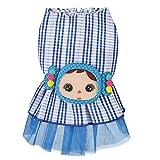 DUANQY Pet Kleidung Frühling und Sommer Cute Spinning Rock Little Girl Princess Dress Hundebekleidung Hundebekleidung,Blue,XS