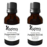#5: Combo of Pumpkin Seed Carrier oil & Peppermint Oil ( Each Products 30ml ) Ideal for Use in Promotes Hair Growth, Hair loss, Health Boost, Skin Benefit, Aromatherapy, Body Massage