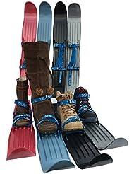 Mini ski courts enfant débutant Team Magnus en plastique pour apprentissage - junior 3 ans et adultes différents coloris