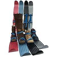 Kinderski für Tricks, Lernen und Spaß im Schnee für Größe 24-41 - flexibel, bequem u. sicher an allen Schuhen/Stiefeln - hochwertigen Anschnallriemen - ideale Plastik-skis für Kinder (9 Farben)
