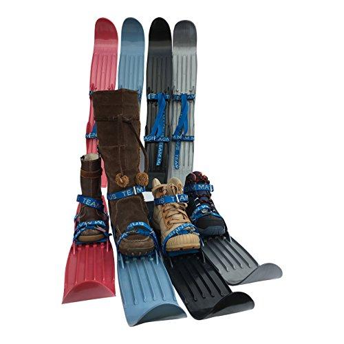 Kinderski für Tricks, Lernen und Spaß im Schnee für Größe 24-41 - flexibel, bequem u. sicher an allen Schuhen/Stiefeln - hochwertigen Anschnallriemen - ideale Plastik-skis für Kinder (RAF Blau)