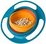 Gyro Bowl Snackschüssel orange/türkisblau - Das Original - Dreht sich mit dem Inhalt 360° - Für...