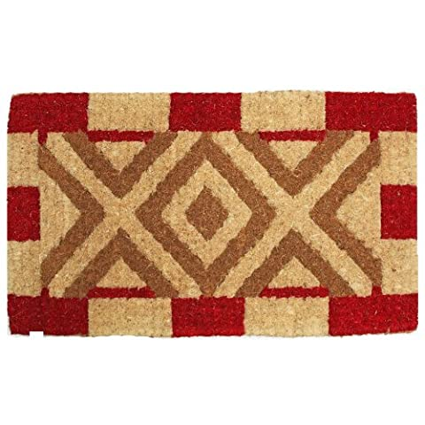 J & M Home Fashions XOXO Imperial Coco Doormat, 18-Inch by 30-Inch