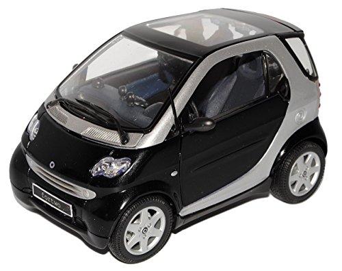 smart-fortwo-coupe-schwarz-c450-1998-2007-ab-facelift-2003-1-18-maisto-modell-auto