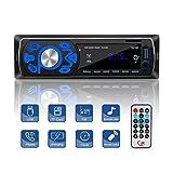 MEKUULA 1 DIN ISO Autoradio Bluetooth, 4X50W Stereo Audio Ricevitore In-Dash FM Rdio Lettore mp3 con Telecomando / AUX / USB / SD Vivavoce e Microfono Incorporato Autoradio