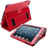 Snugg ™ - Étui Pour iPad Mini & Mini 2 - Smart Case Avec Support Pied Et Une Garantie à Vie (En Cuir Rouge) Pour Apple iPad Mini & Mini 2