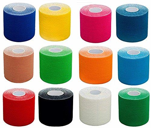 Preisvergleich Produktbild DoYourFitness 1x Premium Kinesiologie Tape,  elastische Qualitäts-Bandage / 100% gewebte Baumwolle / wasserresistent / Rollenlänge 5 m,  Breite 5 cm,  Farbe: hellblau