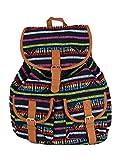 Stoff Rucksack bunte Streifen mit eingewebtem Muster - unisex - Teenager Rucksack (gestreift)