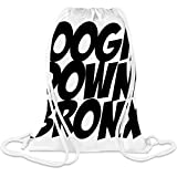 Boogie Down Bronx Custom Printed Drawstring Sack 5 l 100% Soft Polyester A Stylish Bag For Everyday Activities