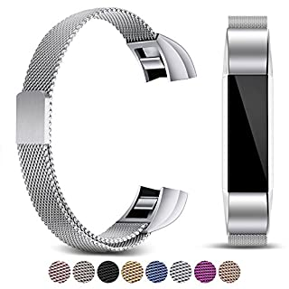 FashionAids For Fitbit Alta HR Straps Fitbit Alta Straps Bands, Metal Stainless Steel Bracelet Strap with Unique Magnet Lock for Fitbit Alta/HR Fitness Tracker(No Tracker)