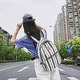 SEBAS Home Persönlichkeit Rucksäcke Moderner High School Student Stripes Schoolbag Casual Rucksack