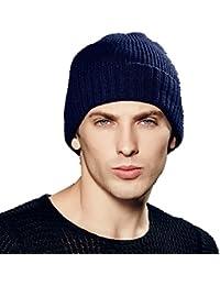 Kenmont automne hiver des hommes laine calotte de tricot Bonnet brassard tam