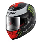 SHARK - HE8638EKRWS/162 : SHARK - HE8638EKRWS/162 : Casco Integral Race-R Lorenzo Monster Mat Color NE/RO/BL Talla S