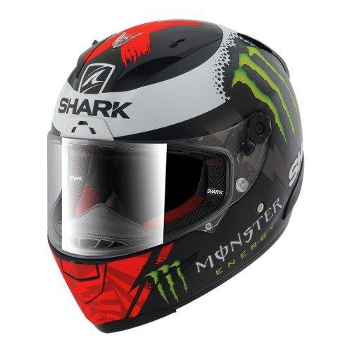 Shark, casco da moto, nero/rosso/bianco, taglia S