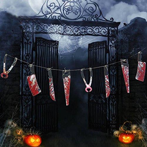 Zantec 8PCS Halloween blutige lustige Säge Messer Werkzeug Terror Dekoration Haunted Haus und Art und (Sie Zombie Machen Eigene Ihre Kostüm)