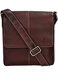 Tan Ritcher Genuine Leather Made Sling Bag For Women And Men-Brown