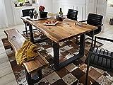 Esszimmertisch Esstisch Küchentisch Tisch Massivholztisch Holztisch 'Marry I' (200x77x100 cm)