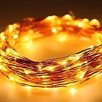 tmei 100LED Solar Light Strip luce catena 12m illuminazione sfera con 8modalità Weihnachtsbeleuchtung per giardino Natale matrimonio compleanno Home Holiday Christmas Wedding