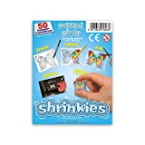 Shrink Art Art-WZ624 Shrinkles Originales,, Paquete Aula, 50 Hojas, Color Transparente (Keycraft WZ624
