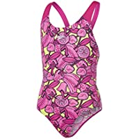 Speedo Comet Crush Allover Splashback Bañador 1 Pieza, niñas, Rosa (Electric Lime Punch/Pink Haze), 26