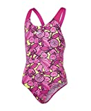 Speedo Mädchen Comet Crush Allover Splashback Swimwear, Electric Pink/Lime Punch/Pink Haze, 164