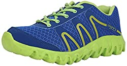 Golfer Mens Royal Blue & Green Synthetic Sports Shoes- 7