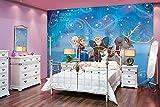 Fototapete Disney Die Eiskönigin Frozen Esla Anna Olaf Vlies-Tapete für Kinder-Zimmer (208 x 146cm - 2-teilig)